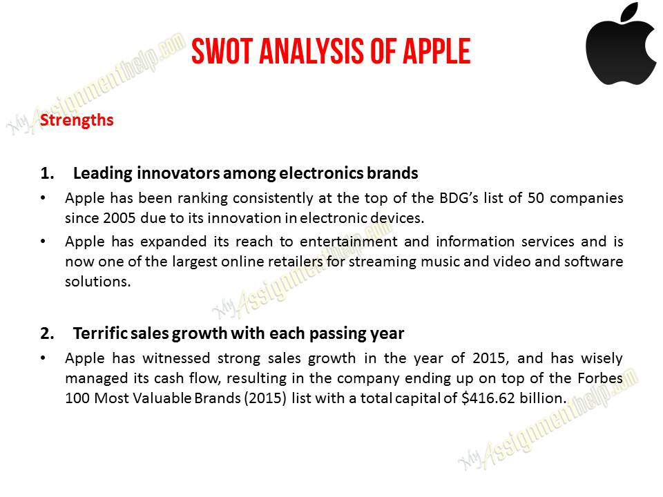 case study on apple College essay writing service 5-10 page detailed business and, problem and solution analysis for strategic management course detailed information is attached.