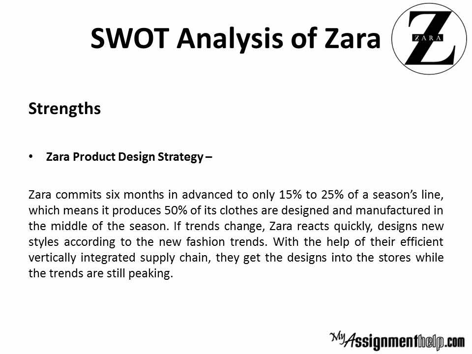 zara value chain analysis In order to assess nike's strategic capabilities, value chain analysis will allow us to identify the key capabilities that the company currently possess, whilst also allowing us to pinpoint those that must be leveraged in order for us to gain a competitive advantage.
