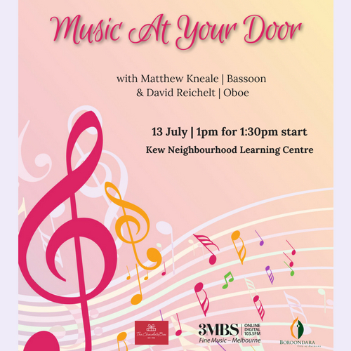 Music At Your Door Continues at Kew Neighbourhood Learning Centre
