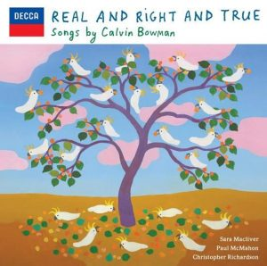 3MBS CD of the Week shows the cover of Calvin Bowman's Real and Right and True