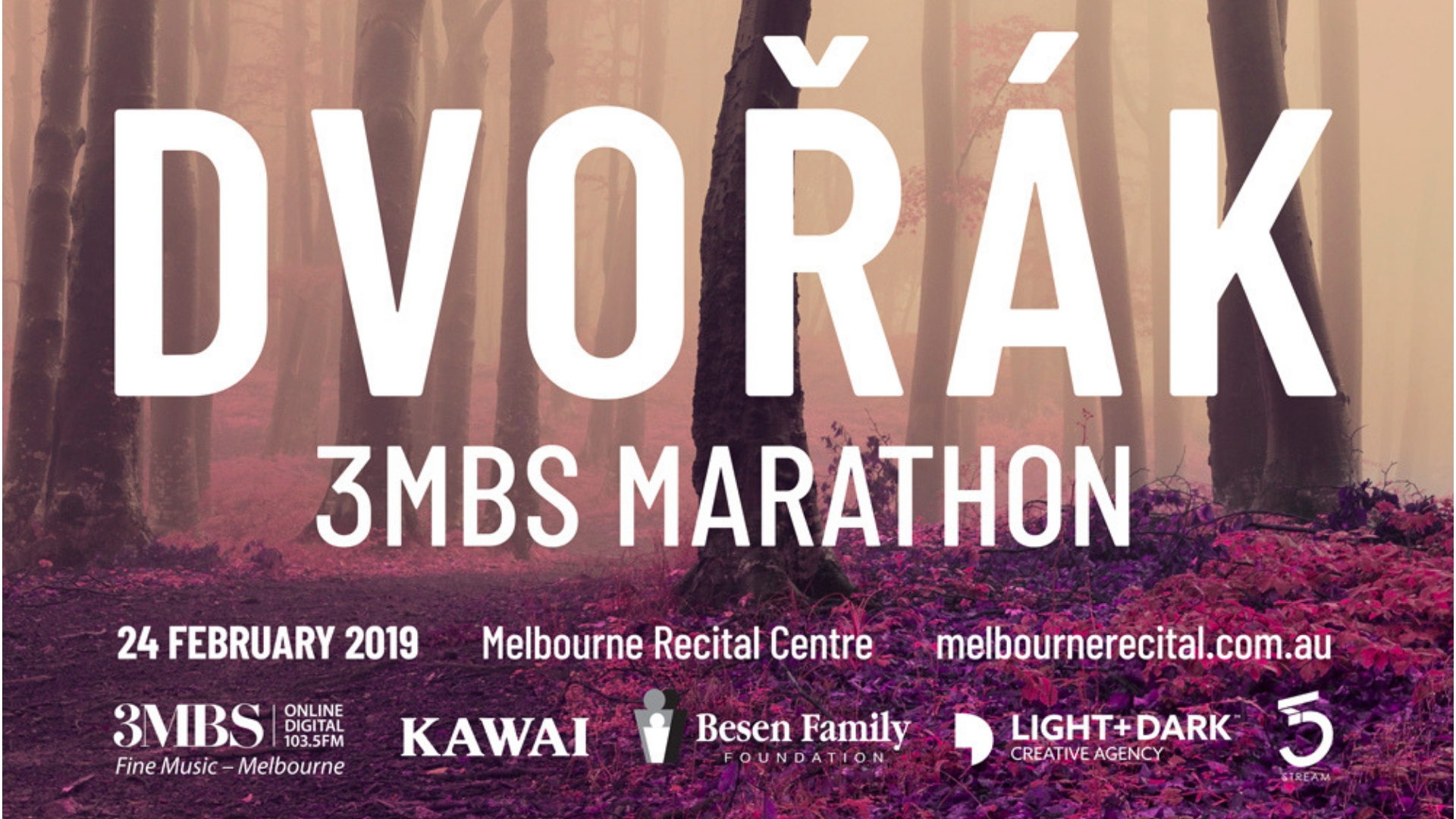 Tickets on sale now for the 2019 Dvořák Marathon