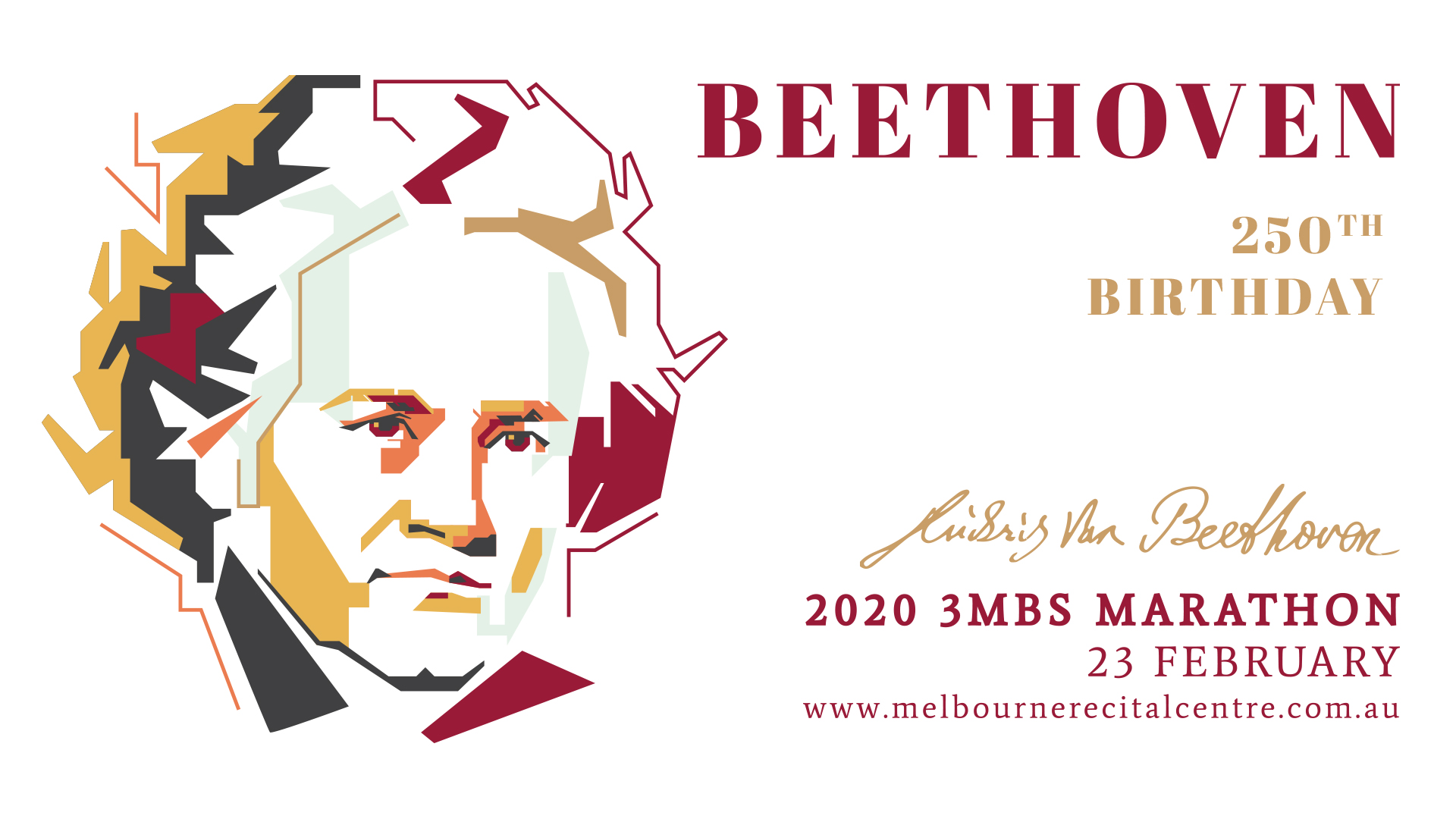 The 2020 3MBS Beethoven Marathon event image.