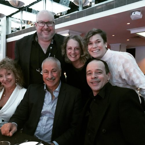 3MBS staff members and Theatretrack presenter gather at the CBAA Award Gala Dinner