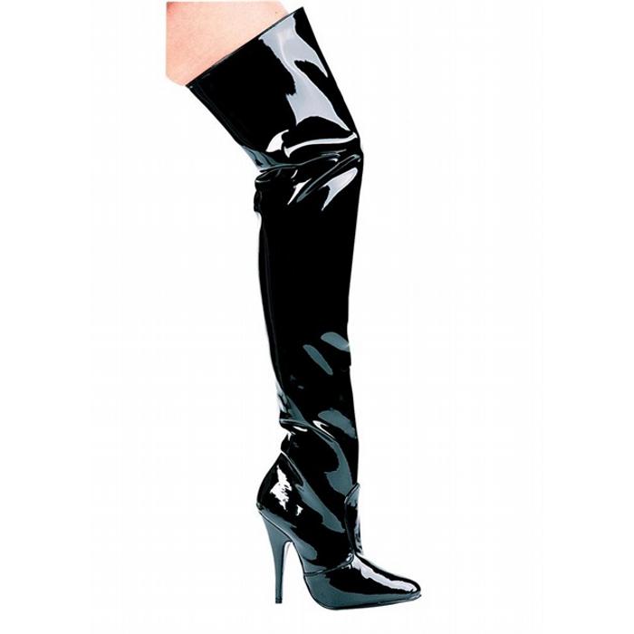 5″ Heel Thigh High Boots with Zipper