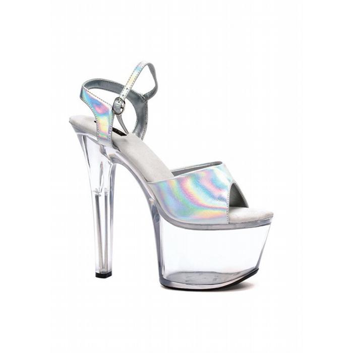 7″ Heel Silver Hologram Sandal