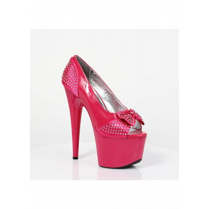 7″ Stiletto Heel Open Toe Pump
