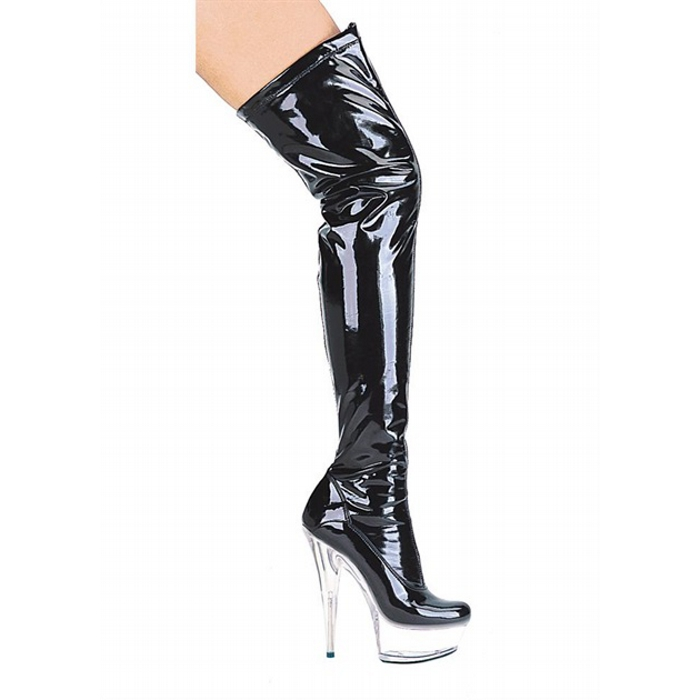 6″ Stiletto Thigh High Stretch Boots