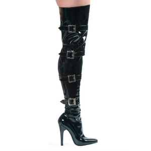 5″ Stretch Thigh Boot with Buckles
