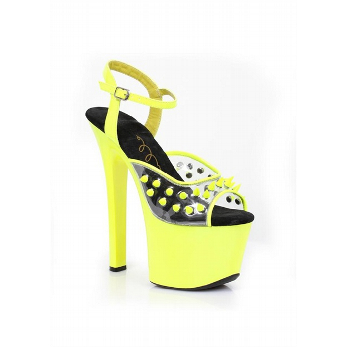 7″ Heel Neon Platform with Spikes