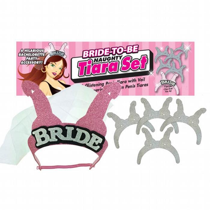 Bride-To-Be Naughty Tiara Set
