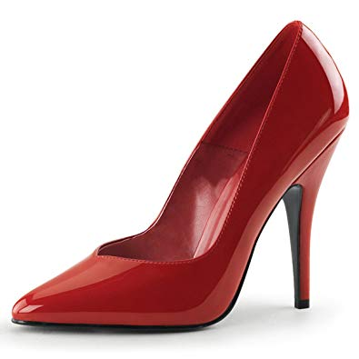 Pleaser 5″ Heel Pump Red