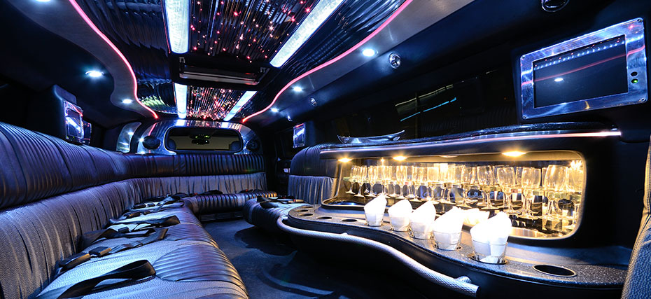 Interior of stretch hummer courtesy of Hummers SA