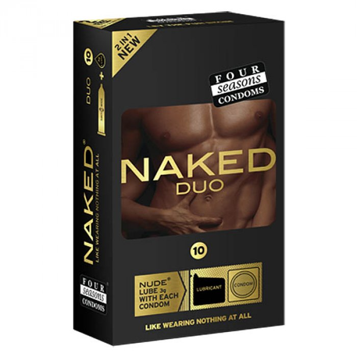 Four Seasons Naked Duo Ultra Thin Condoms with Lubricant Sachets