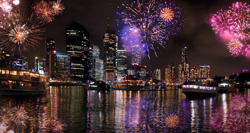 Our Top Places to Watch the Brisbane NYE Fireworks