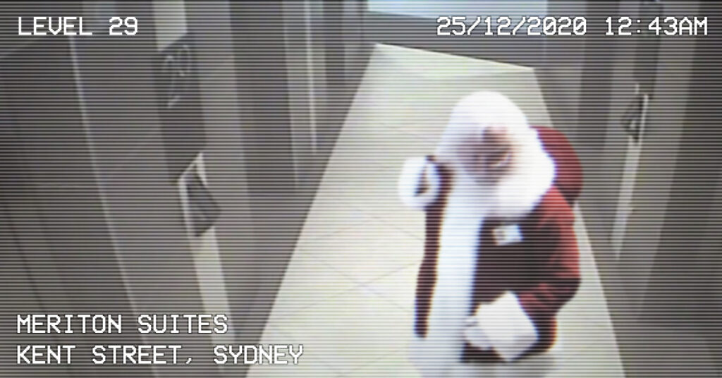 Santa Spotted on Hotel Security Cameras