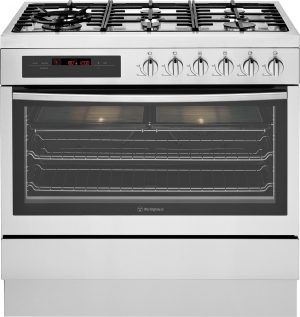 Westinghouse 90cm Freestanding Dual Fuel Oven/Stove WFE916SA