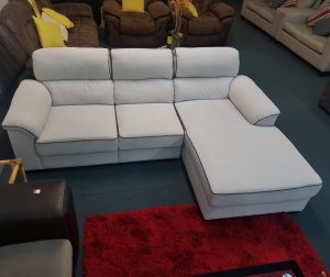 3 Seater Suite with Chaise in Ivory