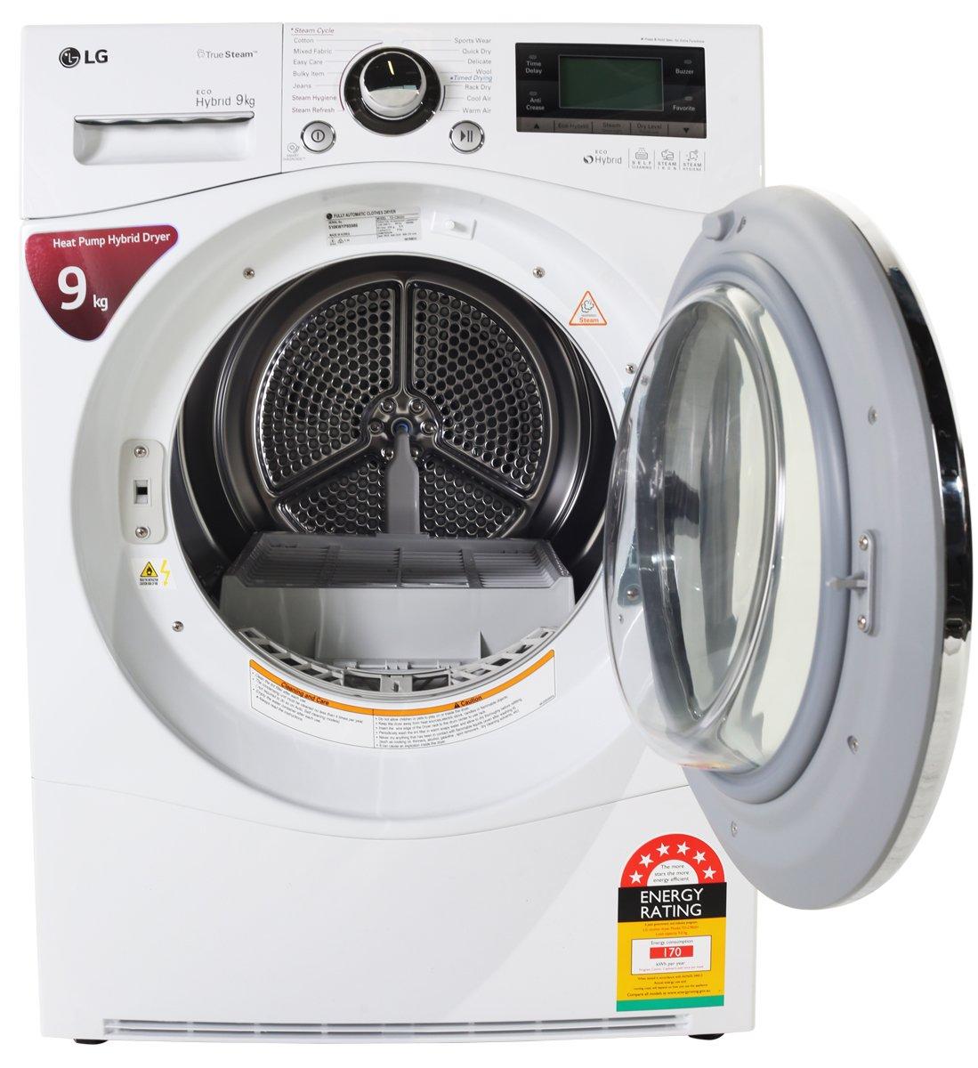 LG TD C902H 9kg Heat Pump Hybrid Dryer Open high.jpeg
