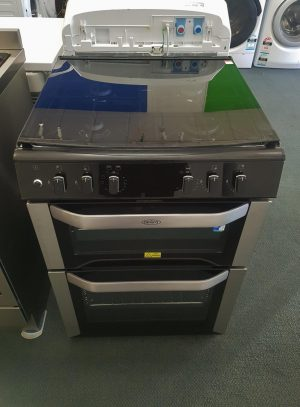 Belling Freestanding Electric 60cm Dual Fuel Double Oven with Gas Cook Top