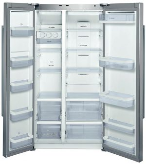 Bosch 678L Side By Side Platinum Silver Fridge – KAN62V40AU