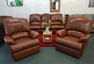 Genuine Leather Sherborne 3+1+1 Reclining Lounge Suite