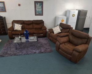 Beautiful 3+1+1 Full Recliner Lounge Suite -Chocolate Brown