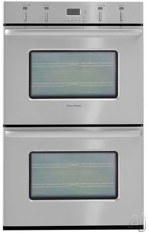 F&P Super 30 Inch Double Electric Wall Oven with Convection Cooking System and 10 Cooking Modes: Stainless Steel