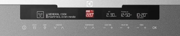 600mm 60cm Electrolux Electric Wall Oven EVE633SA Control Panel high.jpeg