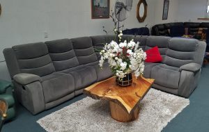 Luxurious Grey Allure Velvet Corner Suite