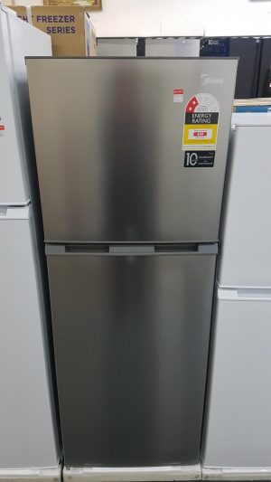 Brand New Midea 239L Fridge Freezer Stainless Steel
