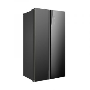 Midea 584L Fridge Freezer Black Glass JHSBSINV584BK