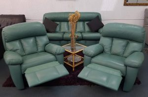 3+1+1 Genuine Leather 'Endeavour' Lounge Suite with Recliners