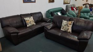 Morgan Genuine Leather 3+2 Lounge Suite – Dk Choc