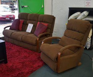 La-Z-Boy 3 Seater Sofa + Rocker Recliner