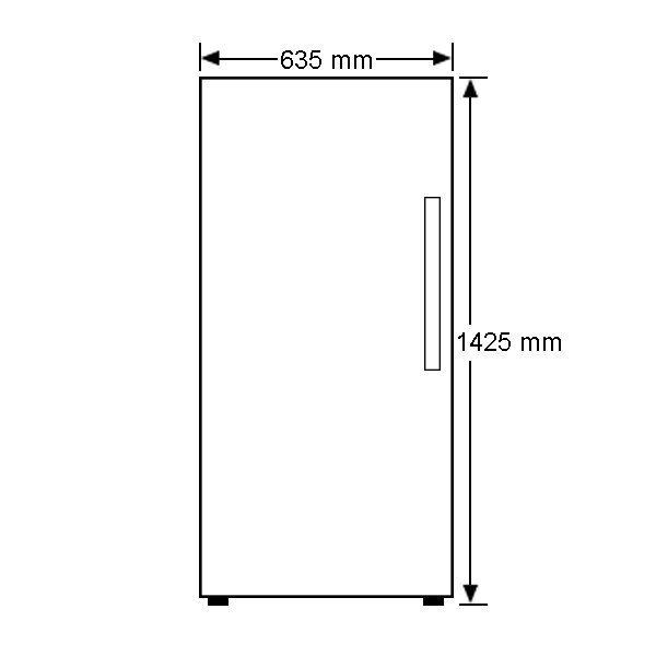 304L Fisher Paykel Upright Freezer E308LWW Front Dimension high.jpeg