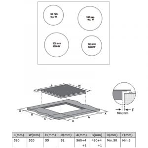 Midea 60cm Ceramic Cooktop – Touch Control MC-CH6002