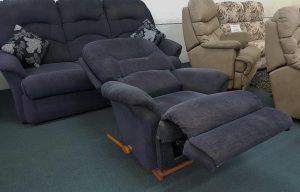 3+1 La Z Boy Fabric Lounge Suite with Rocker Recliner