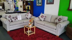 Beautiful Zambesi 3+2 Fabric Sofa Set – Mist