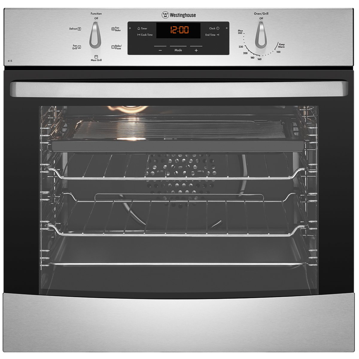 Westinghouse Electric Wall Oven WVE615S Hero Image high.jpeg