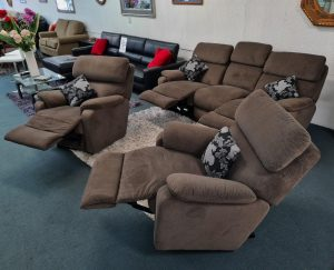 The La-Z-Boy Benton Fabric 5 Seater Rocker Recliner Suite