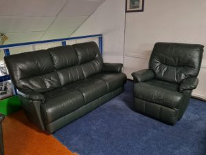 Traded In Navinzi Genuine Leather 3+1+1 Recliner Suite