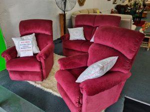 La-Z-Boy 'Eden' 4 Seater Recliner Lounge Suite – Elizabeth Wine