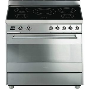 Smeg 90cm Stainless Steel Induction Freestanding Cooker (CE9IMXA)