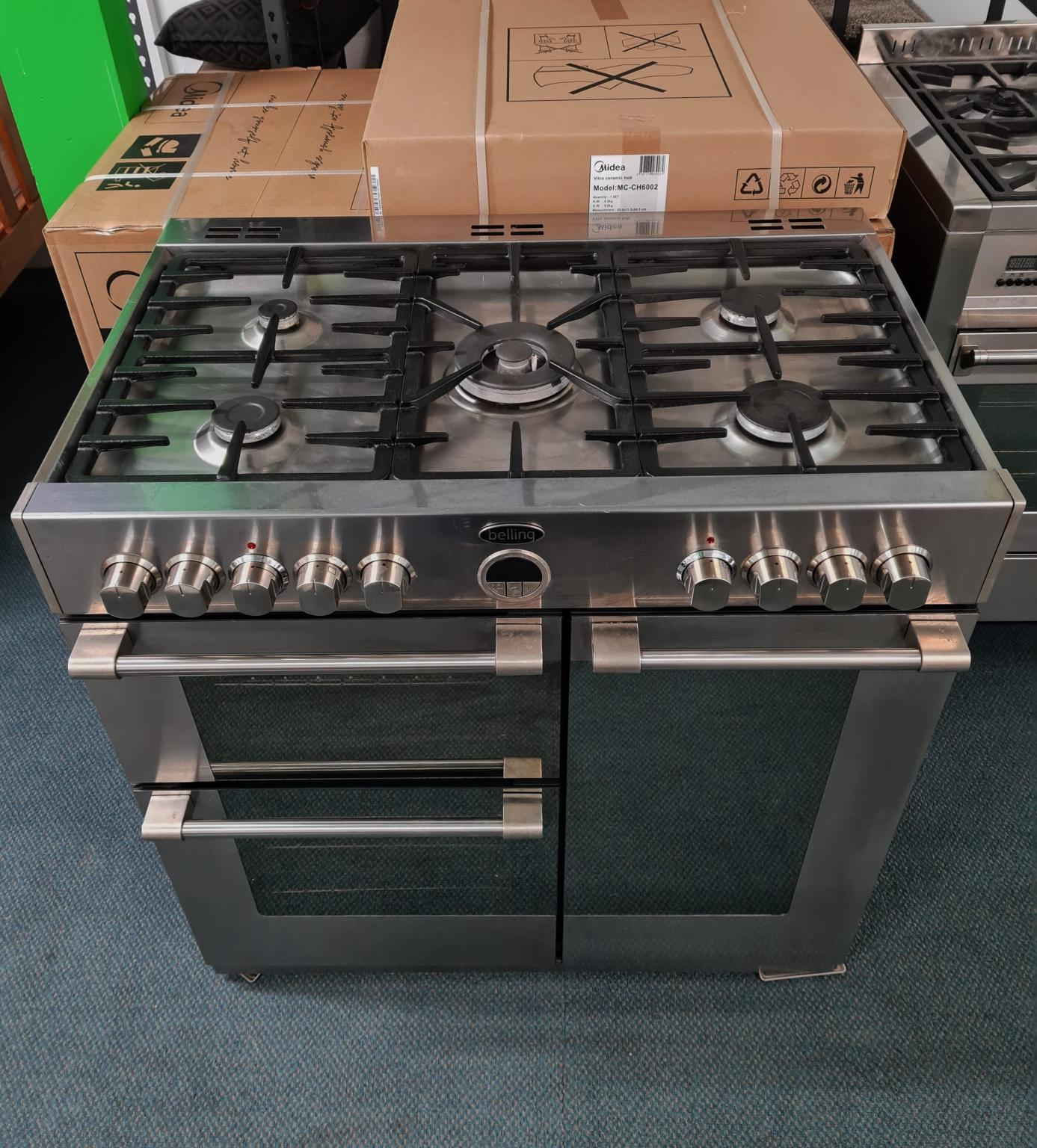 Belling Sterling 90cm Dual Fuel Range Cooker – Stainless Steel