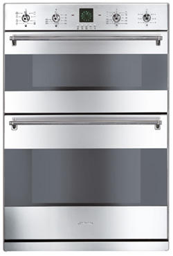 Smeg 60cm Multifunction Electric Built In Double Oven DO81CSS-5