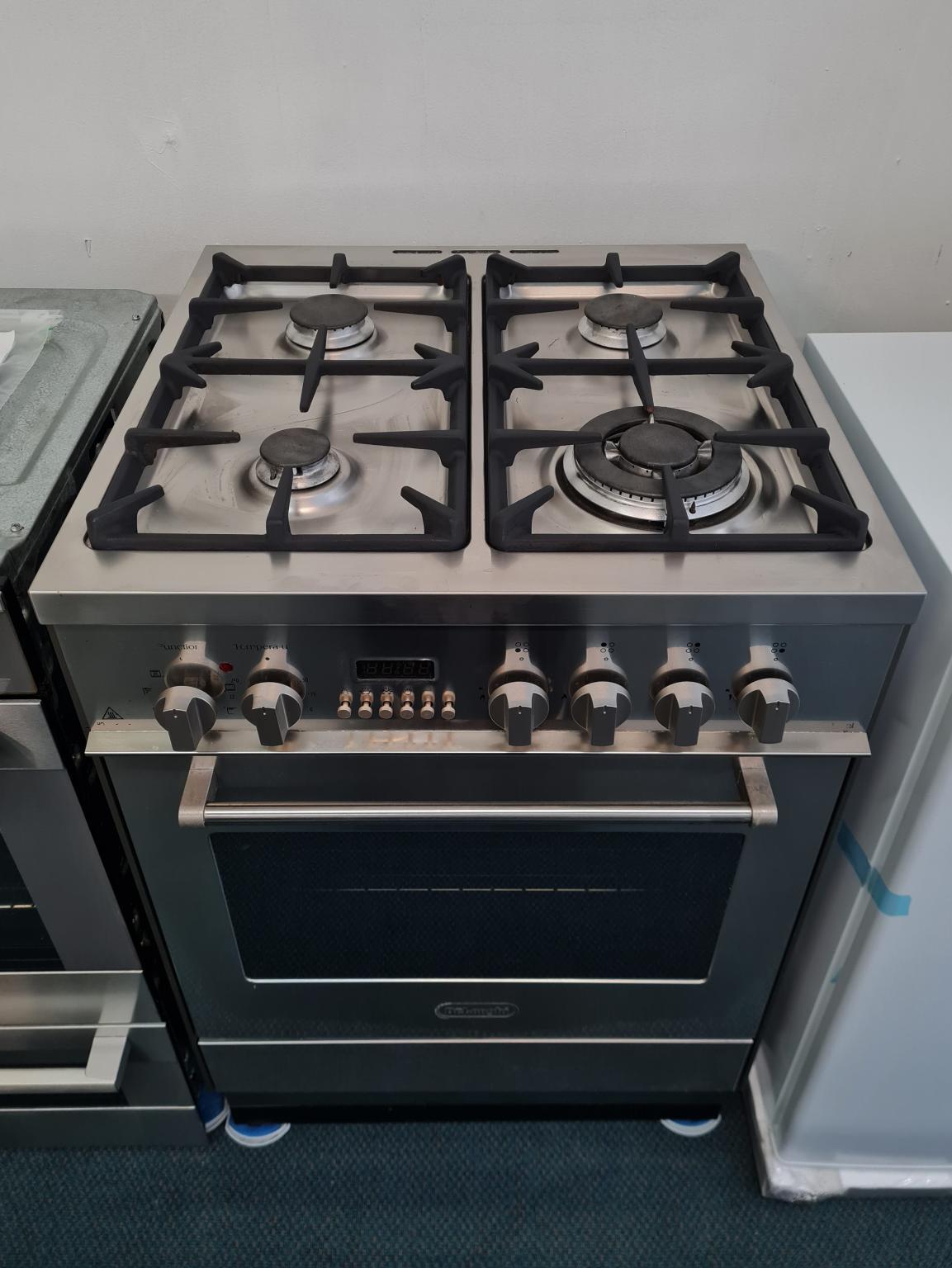 Delonghi 60cm Stainless Steel Duel Fuel Cooker DS61GW