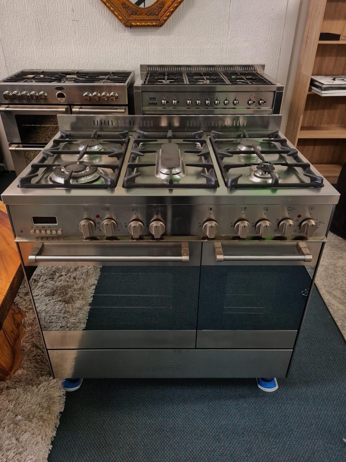 DeLonghi 90cm Freestanding Double Oven Dual Fuel Cooker D926GWF
