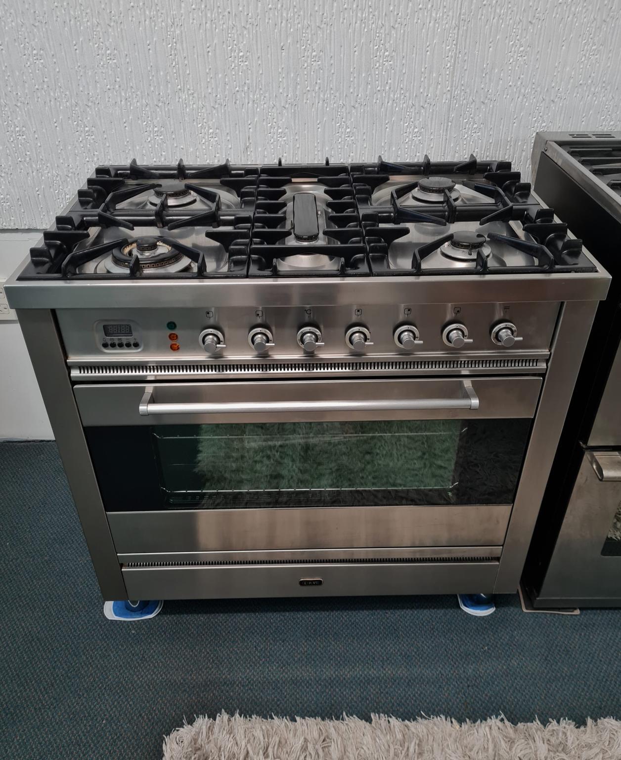 Ilve 90cm Series Dual Fuel Freestanding Cooker P90MP/I
