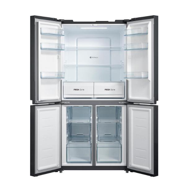 New Midea 545L Cross Door Fridge Freezer Black Stainless Steel JHCDSBS545BK