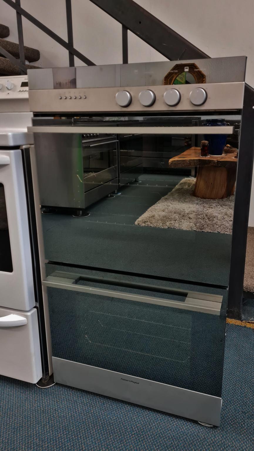 Fisher & Paykel 60cm Iridium Stainless Steel Double Oven